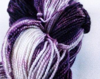 Sock Weight, Hand Dyed, Purple, Superwash Merino, Wool, Yarn, Ready to Ship,