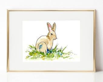 Easter bunny DIGITAL DOWNLOAD, Easter Printable Art, Spring Printable Art, Baby animals, Nursery Art, Bunny artwork, Easter Rabbit art