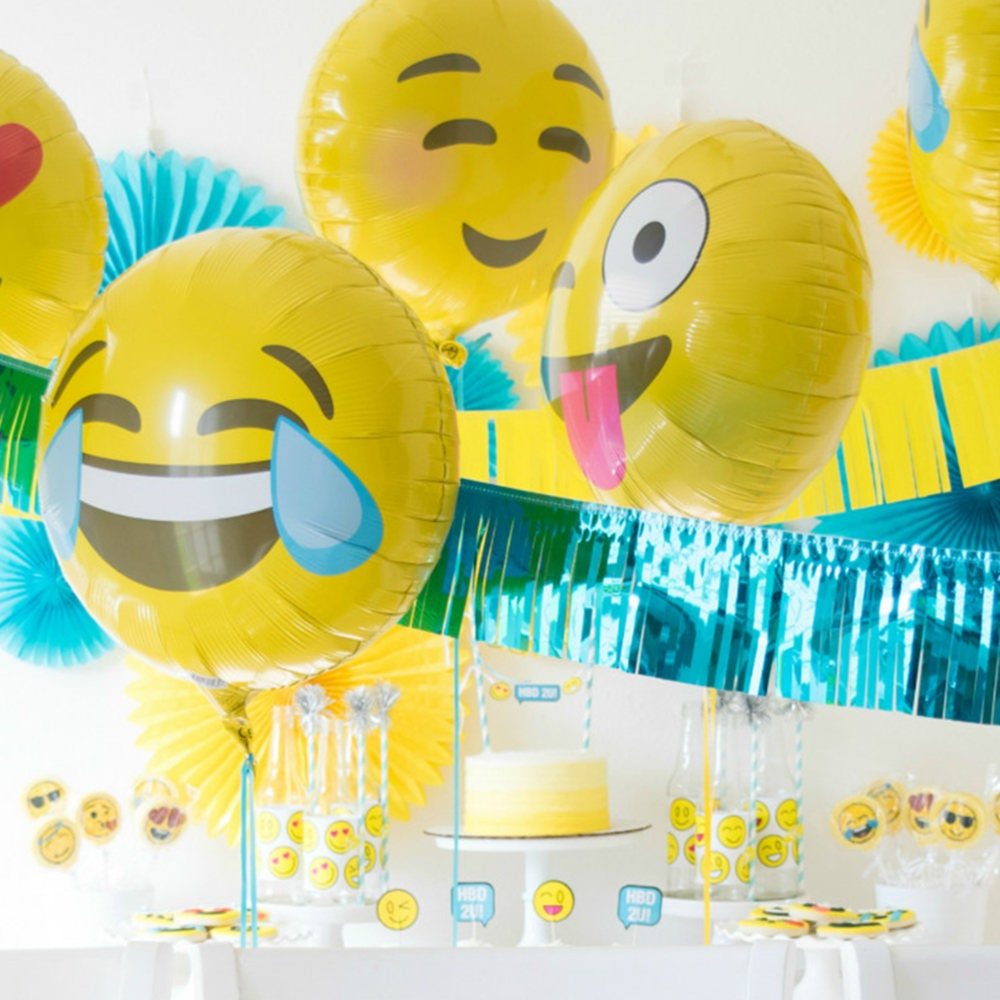 Emoji emoji birthday emoji balloons emoji party for Decoration emoji