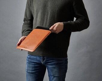 iPad Air Felt and Leather Case, iPad Air Leather Wool Felt Sleeve Cover, iPad Air Case, iPad Air Felt Case, iPad Air Leather Case Sleeve