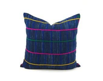 """Vintage African Indigo Pillow Cover 20x20"""""""