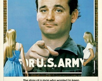 Summer Sale STRIPES Movie Poster 1981 Bill Burray Ivan Reitman