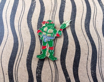 "Retro Vintage 90's ""Raffaele / Teenage Mutant Ninja Turtles"" Enamel Pin"