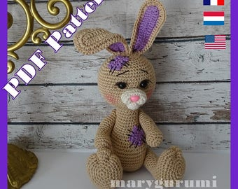 Crochet Pattern, pattern, tutorial, Amigurumi, Lulu rabbit
