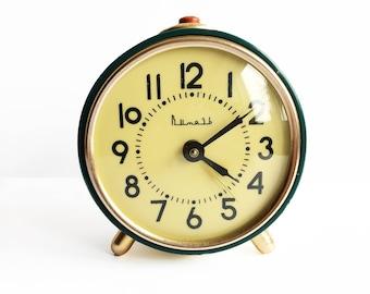 """Vintage russian alarm clock """"Slava"""". Soviet Alarm clock. Vintage alarm clock. Working Vintage clock. USSR alarm. Alarm clock. soviet clock"""