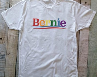 Bernie Sanders Rainbow Shirt LGBTQ Lesbian Gay Queer Equality T-Shirt