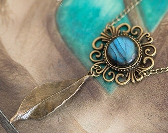Labradorite - pattern Art Gaia necklace