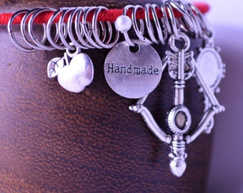 Snow White Charm Bracelet Red Bangle