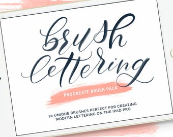 Procreate Brushes |  Lettering Brush Pack |  Procreate Brush Lettering | Procreate Bundle | Digital Brush | Procreate Brush