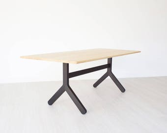 stir trestle table trestle dining table solid wood table