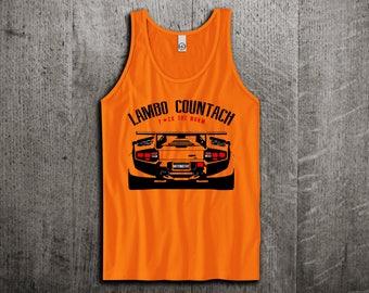 lamborghini countach Tank Top, Lambo shirts, supercar shirts, cars tanks, Lamborghini t shirts, Unisex Tank top, gym tanks by Motomotive