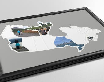 Canadian Provinces and Territories Photo Map