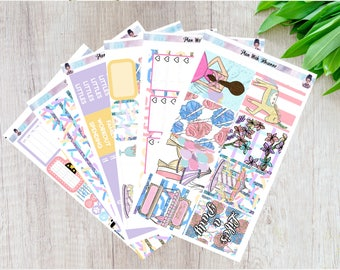 Carinvale Full 6 Page Weekly Kit for the Erin Condren Life Planner || Matte Planner Stickers