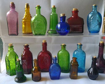 Collection of small purfume/scent bottles