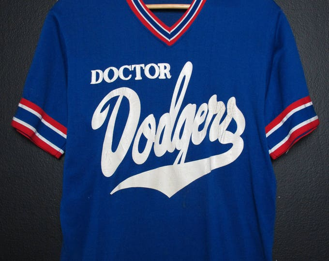 Los Angeles Dodgers MLB Vintage V neck Tshirt