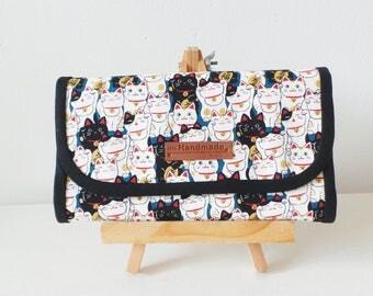 Flap Accordion Wallet - *Maneki Neko* Fortune Cat