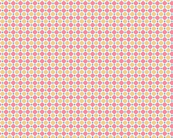 1/2 yd Cozy Christmas SQUARE by Lori Holt for Riley Blake C5366-PINK