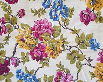 Large piece of  floral vintage fabric