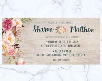 Wedding invitation, invitation template