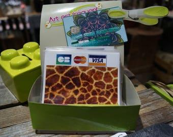 Blue Giraffe card stickers