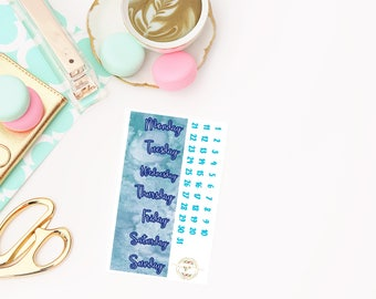 Sapphire Date Covers add on, planner stickers