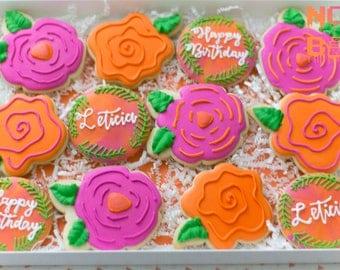 Bright Flower Cookies