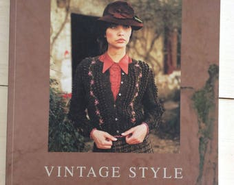 Knitting Book - Knitting Pattern Book - Vintage Style 30 Knitting Designs from Rowan By Kim Hargreaves Paperback Book