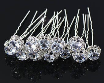 Wedding hair pins bridal hair piece accessories jewelry crystal tiara gift for bride