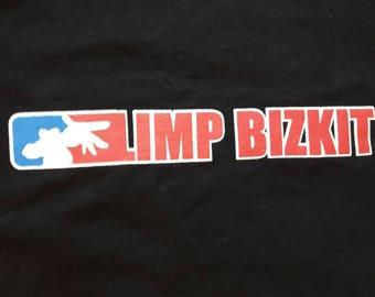 Vintage 90s Limp Bizkit Logo Tee . Vtg 1990s Nu Rap Metal T Shirt Korn Slipknot