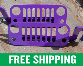 Jeep Foot Pegs for JK Wrangler | Purple Pair