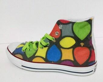 Colorful Custom Converse / color / colour custom shoes