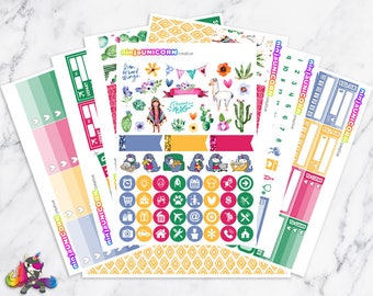 Mama Llama || Planner Sticker Kit, Cactus, Llama, Planner Stickers, Planner Kit, Cactus Stickers, Llama Stickers