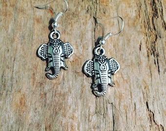 Ganesh charm earrings