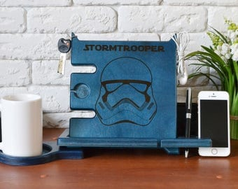 Iphone gift Cool Mens Gift Ideas Stand with Storm Trooper decor Storm Trooper gift poster Storm Trooper print art Trooper birthday decal