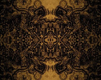 Black and Gold Trippy Art poster
