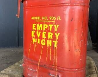 Vintage Oil Disposal Trash Can