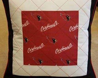 Cardinals Quilted Pillow