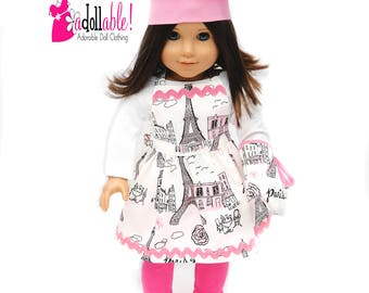 American made Girl Doll Clothes, 18 inch Doll Clothing, Baker Outfit, made to fit like American girl doll clothes