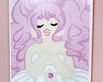 Rose Quartz (Steven Universe) Art Print