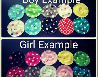 Gtube GJ PEG Button Gastrointesinal Medical Pads Cover set of 10 - Polka Dots Mix - Made Ready to Ship