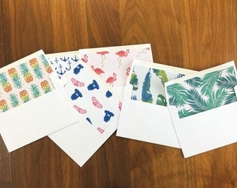 Matching Envelope Liners