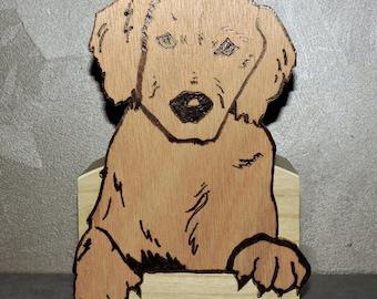 """Dog"" wooden money box"