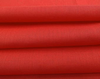 """Upholstery Fabric, Red Fabric, Craft Supplies, Apparel Fabric, Home Decor, 42"""" Inch Cotton Fabric By The Yard PZBC1F"""