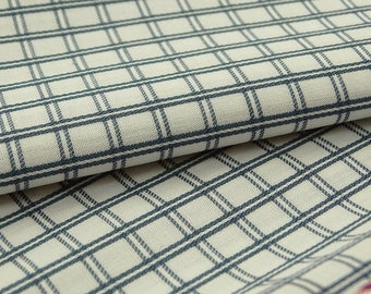 """Ethnic Check Print, White Fabric, Dress Fabric, Home Accessories, Quilt Fabric, 57"""" Inch Cotton Fabric By The Yard ZBC9072A"""