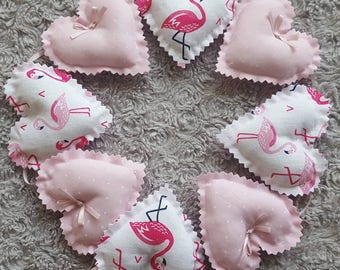 Handmade Flamingo bunting, baby girl, baby gift, baby nursery, pink