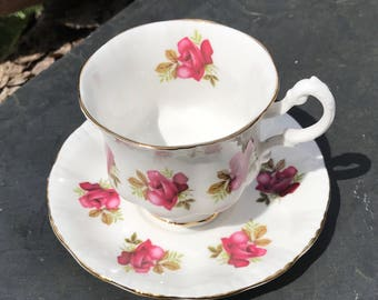 Vintage Ridgeway Royal Adderley Bone China Tea Cup & Saucer