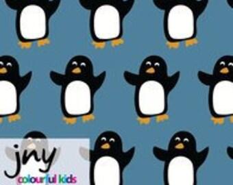Penguins JNY Organic Cotton Lycra Jersey Knit Fabric