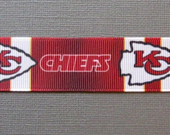 """Kansas City Chief Dog Collar - Side Release Buckle (1"""" Width) - Martingale Available"""