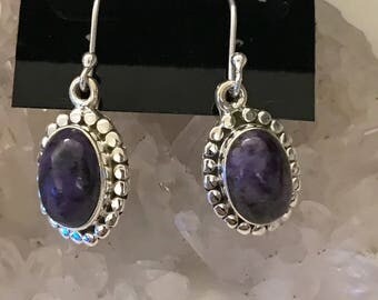 Gorgeous Russian Charoite Earrings