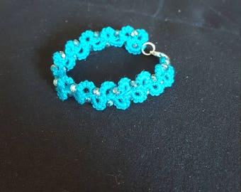 Needle tatted bracelet